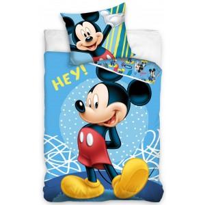 Modré detské posteľné obliečky MICKEY MOUSE