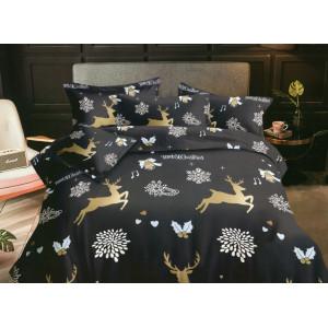 Vianočné posteľné obliečky s motívom sobov