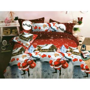 Vianočné posteľné obliečky s potlačou santa clausa