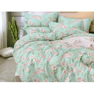 Krásne mentolovo zelené posteľné obliečky s kvetmi
