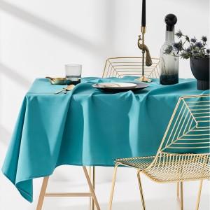 Obrus na stôl v modrej farbe 140 x 300 cm