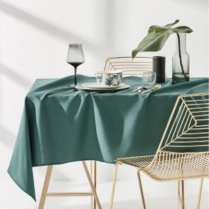 Moderný obrus na stôl zelenej farby 140 x 200 cm