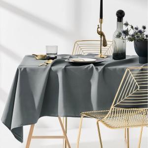 Kvalitný obrus do kuchyne sivej farby 130 x 180 cm