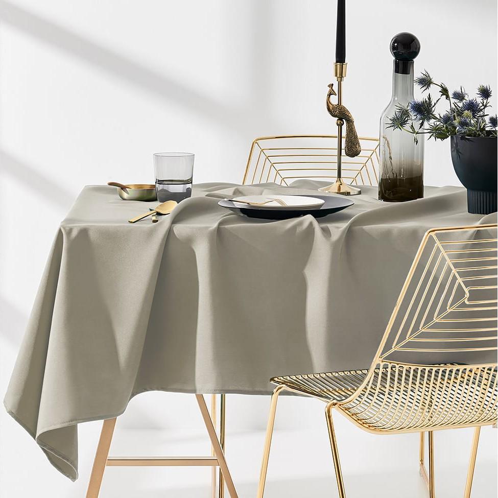 DomTextilu Kvalitný béžový obrus na stôl 130 x 180 cm 24107 Béžová