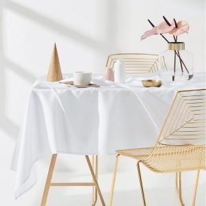 Obrus do kuchyne bielej farby 110 x 160 cm