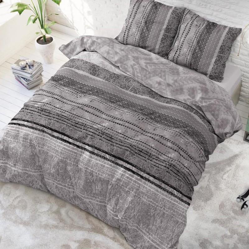 DomTextilu Luxusné vzorované obliečky sivej farby 200 x 220 cm 25981