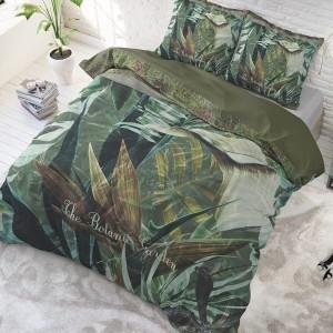 Bavlnené posteľné obliečky s moderným exotickým motívom 140 x 200 cm