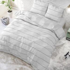 Biele posteľné obliečky s jemným vzorom 200 x 220 cm