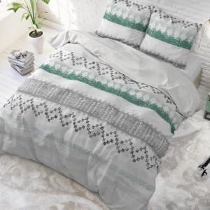 Kvalitné bavlnené posteľné obliečky v sivej farbe 200 x 220 cm