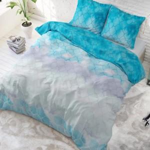Elegantné modré posteľné obliečky z bavlny 200 x 220 cm