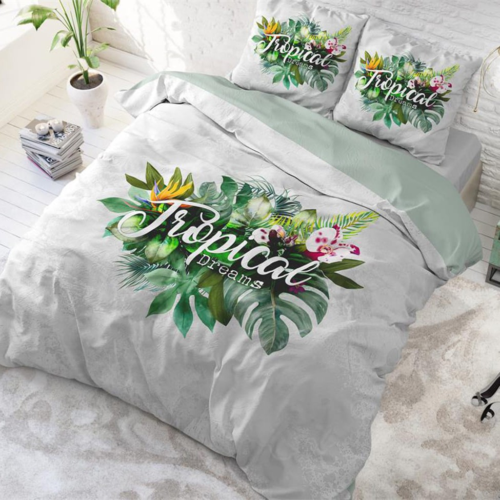 DomTextilu Kvalitné bavlnené obliečky s motívom TROPICAL 200 x 220 cm 24867