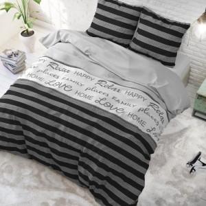 Elegantné pruhované posteľné obliečky 200 x 220 cm