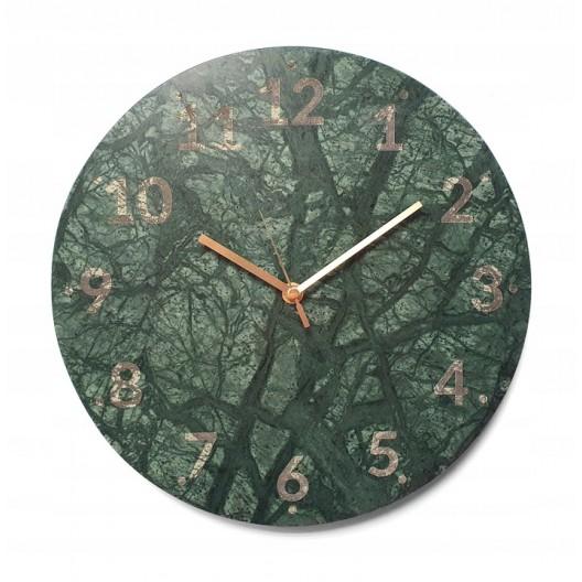 Mramorové hodiny na stenu 30 cm