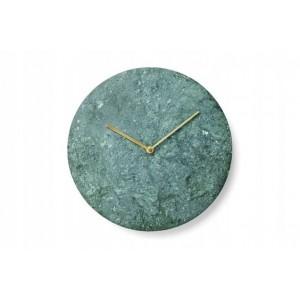 Kvalitné mramorové hodiny v zelenej farbe na stenu 30 cm
