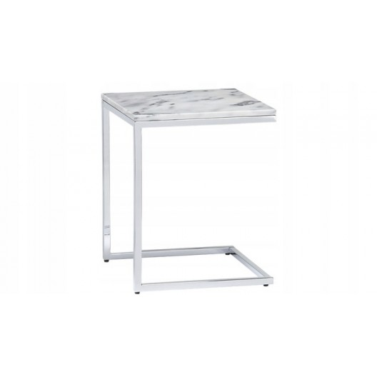 Mramorový konferenčný stolík s konštrukciou