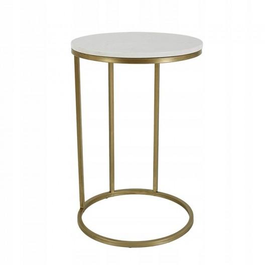 Odkladací stolík z biele mramoru