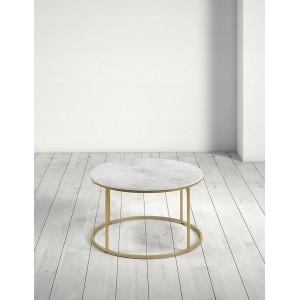 Konferenčný stolík z biele mramoru