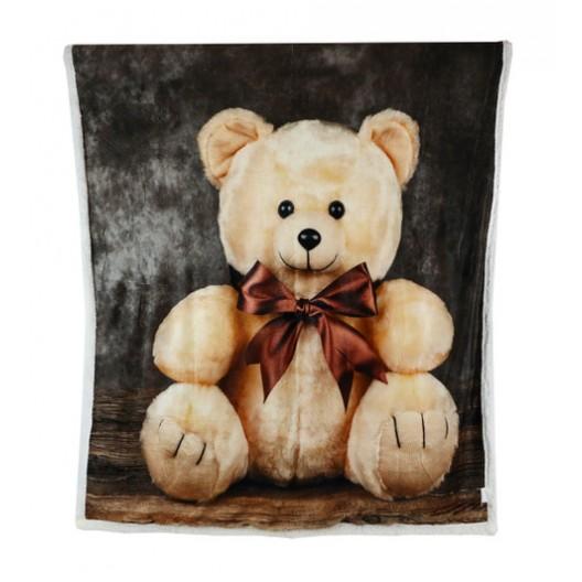 Zateplená detská deka s medvidíkom v darčekovej krabičke