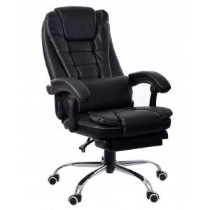 Pohodlné kancelárske kreslo s predĺženou opierkou nôh