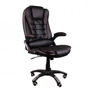 Nastaviteľné kancelárske kreslo v čiernej farbe