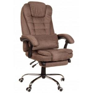Textílne kancelárske kreslo v hnedej farbe