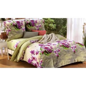 Krásne fialovo zelené 3D posteľné obliečky