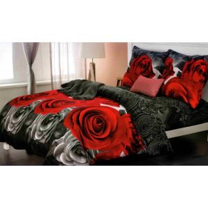 Obojstranné posteľné obliečok s potlačou ruží