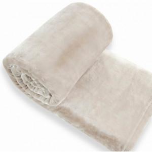 Plyšová deka béžovej farby