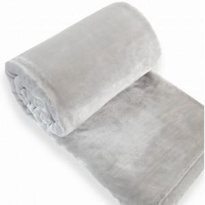 Plyšová deka sivej farby