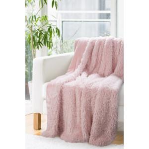 Dekoratívna deka prehoz v púdrovo ružovej farbe