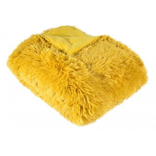 Žltá chlpatá deka