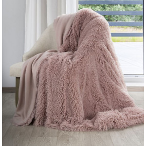 Staroružová chlpatá deka