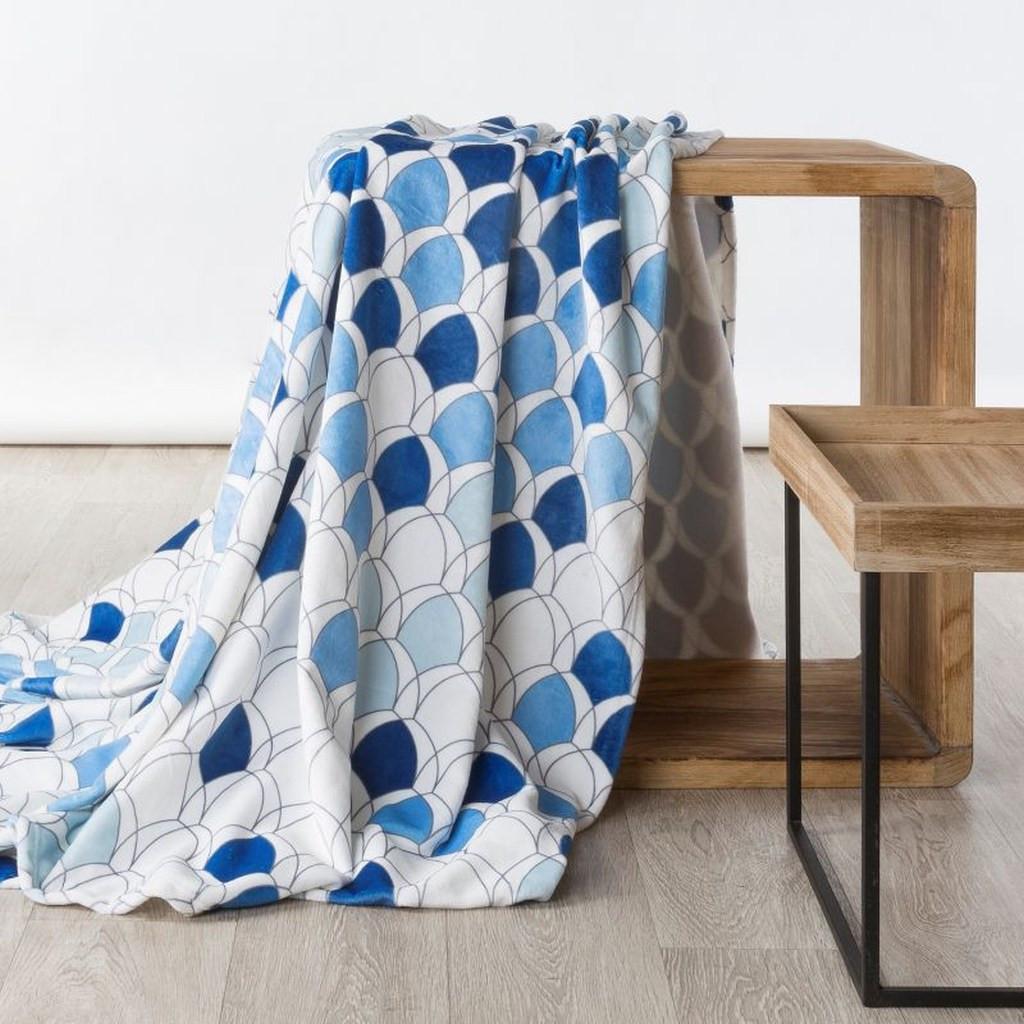 DomTextilu Moderná deka v krásných modrých farbách 70 x 160 cm