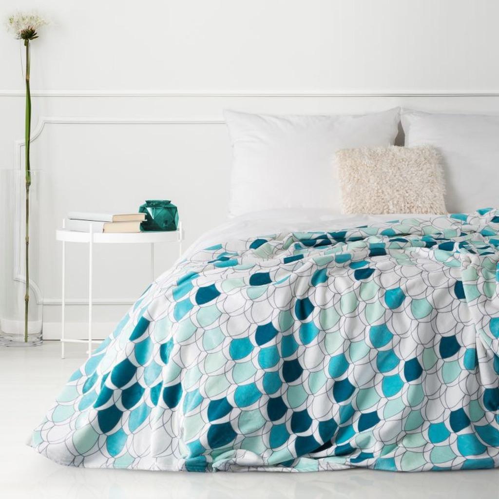 DomTextilu Moderná deka v krásných tyrkysových farbách 70 x 160 cm