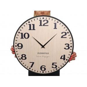 Originálne nástenné hodiny v prírodnej hnedej farbe