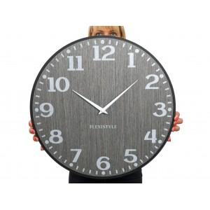 Originálne nástenné hodiny v šedej farbe
