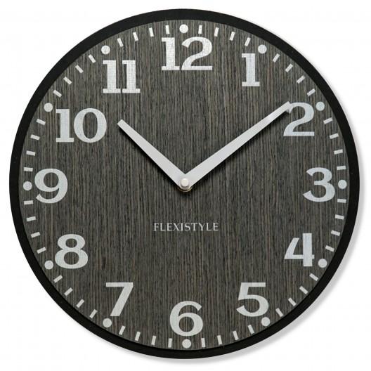 Nástenné hodiny v šedej farbe