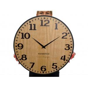 Originálne nástenné hodiny v hnedej farbe