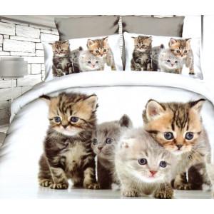 3D posteľné obliečky s mačiatkami