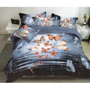 Krásne posteľné obliečky s motýľmi