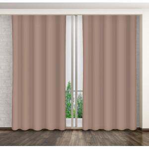 Nádherný béžový jednofarebný záves do obývačky