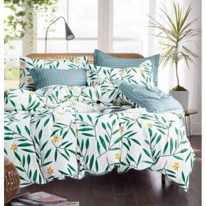 Zelené obojstranné obliečky s prírodným motívom