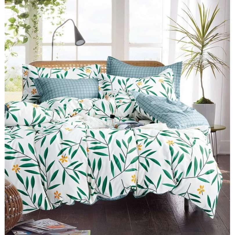 DomTextilu Zelené obojstranné obliečky s prírodným motívom 140x200 cm 28772-155222
