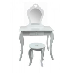 Moderný detský toaletný stolík v bielej farbe