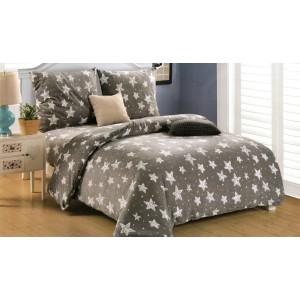 Sivé posteľné obliečky s motívom hviezdičiek