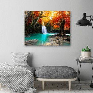 Moderný obraz na stenu s vodopádom