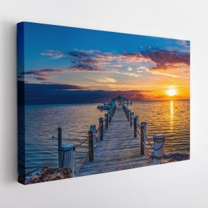 Obraz na stenu západ slnka na móle