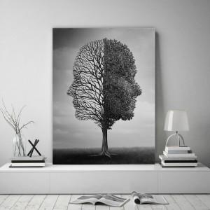 Originálny obraz na stenu s tvárou na strome