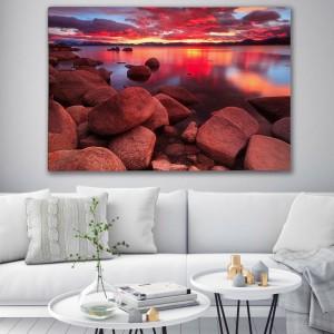 Obraz na stenu západ slnka na pláži