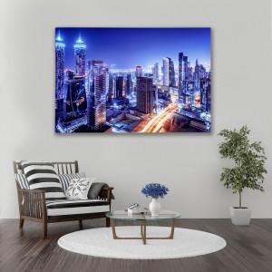 Obraz na plátne s motívom nočného mesta